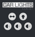 car light icons vector image