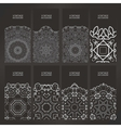 cards vintage decorative elements vector image vector image