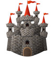 cartoon fairy tale stone castle vector image