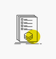 categories check list listing mark line icon vector image vector image