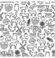 cattle farm agriculture farmer seamless pattern vector image vector image