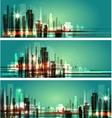 city at night Cityscape vector image