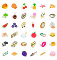 country dish icons set isometric style vector image vector image