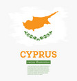 cyprus flag with brush strokes independence day vector image vector image