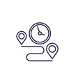 delivery time line icon on white vector image