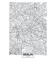 detailed poster city map berlin vector image vector image
