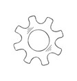development concept hand drawn cog and gear sketch vector image vector image