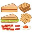 different kinds breakfast vector image