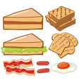different kinds of breakfast vector image