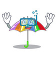 diving rainbow umbrella isolated on a mascot vector image