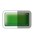 dotted sticker rectangle of road sign green vector image vector image