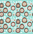 easter chocolate egg and flower seamless pattern vector image vector image