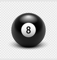 eight ball isolated on a transparent background vector image vector image