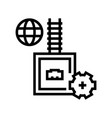 electrical fuse line icon vector image vector image