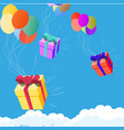 fast deliver in blue sky background isolated vector image vector image