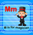 flashcard letter m is for magician vector image vector image