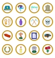 Funeral Icons set cartoon style vector image vector image