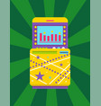 gambling colorful device game computer vector image