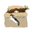 girl and cats good night sweet dreams vector image vector image