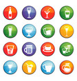 glasses and cups icon set vector image vector image