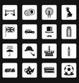 great britain icons set squares vector image