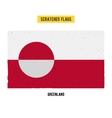 Greenlandic grunge flag vector image vector image