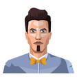 guy with short hair and small beard on white vector image vector image