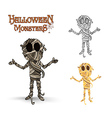 Halloween monsters spooky mummy EPS10 file vector image