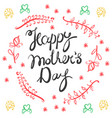 happy mothers day card style vector image vector image