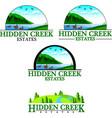 Hidden creek logos vector image