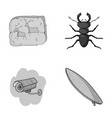history guard and other monochrome icon in vector image vector image
