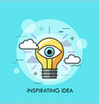 inspirating idea thin line concept vector image