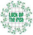 Irish Luck Clover vector image vector image