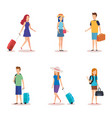 isolated travel people design vector image