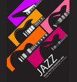 jazz festival music background with a generic guit vector image
