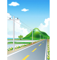 Landscape road trip vector image vector image