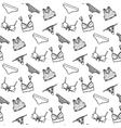 Lingerie seamless pattern underwear vector image vector image