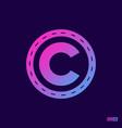 modern professional logo monograma n in purple vector image