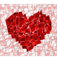 Mosaic with heart vector image vector image