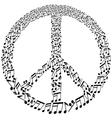 musical peace symbol vector image vector image