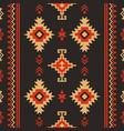 native fabric geometric design kilim ethnic vector image vector image