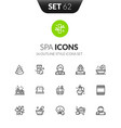 outline black icons in thin modern design style vector image vector image