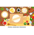 pizza cooking process flat vector image vector image