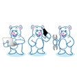 Polar Bear Mascot with laptop vector image