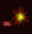 radiant red yellow fireworks greeting holidays vector image vector image