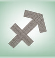 sagittarius sign brown flax vector image