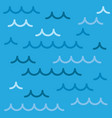 sea waves background pattern of a vector image vector image