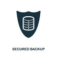 secured backup icon monochrome style design from vector image vector image