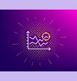 seo analysis line icon web targeting chart sign vector image vector image