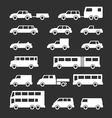 Set icons of car and bus vector image vector image